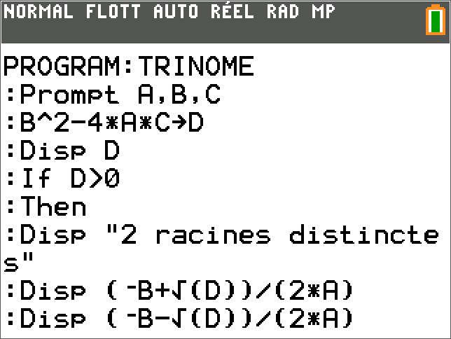 TRINOME Partie 1
